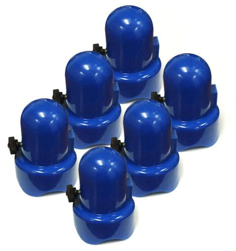 "SkyBound 1.5"" Diameter Blue Trampoline Pole Caps - Set of 6"