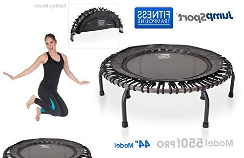 JumpSport PRO Folding Fitness Trampoline | Easy Transport | Choice Extra Surface Arched Legs | Top for Quality Durability | 4 Vids