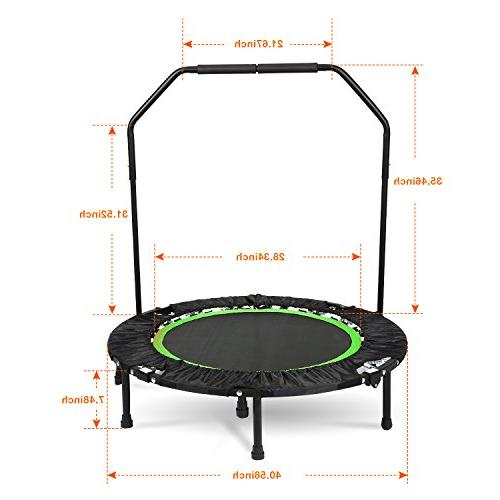 ANCHEER Foldable Trampoline Load 300lbs Rebounder Exercise Trampoline for Cardio