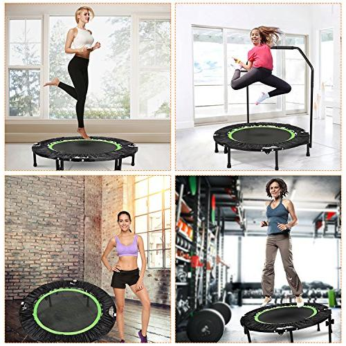 ANCHEER Foldable Mini Trampoline Load 300lbs Trampoline Trampoline with Adjustable for Indoor/Garden/Workout