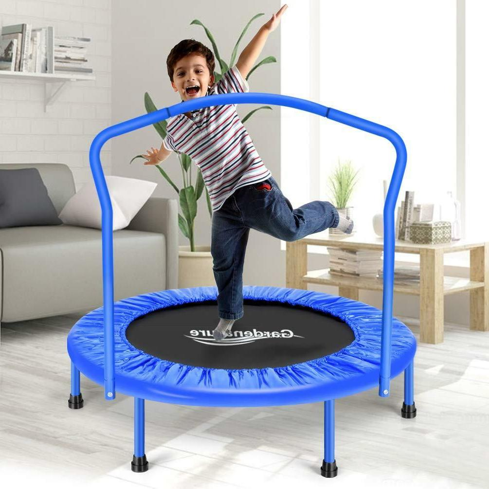 Gardenature Trampolines For Kids-Blue Sports Outdoors