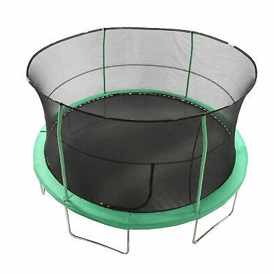JumpKing JK1418C2 Padded Enclosed Round with Green