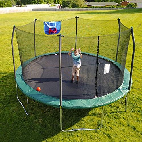 Skywalker Trampolines 15-Foot Jump N' Dunk Trampoline Enclosure Net – New and Hoop – Added – ASTM Last