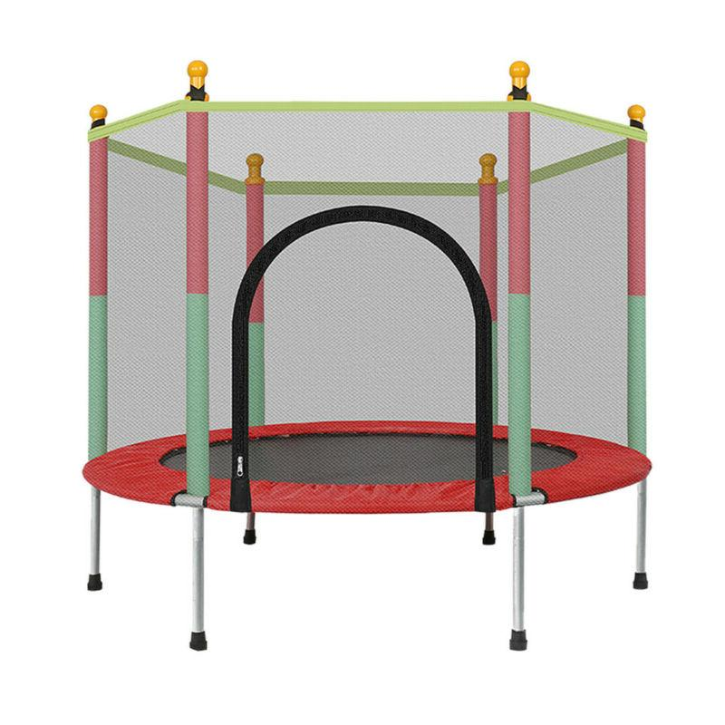 "60"" Round Trampoline 5FT Kids Bounce Jumper with Enclosure,"
