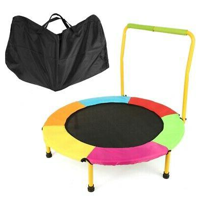 """36"""" Mini Trampoline With Handrail & Safety Padded Cover Rebo"""