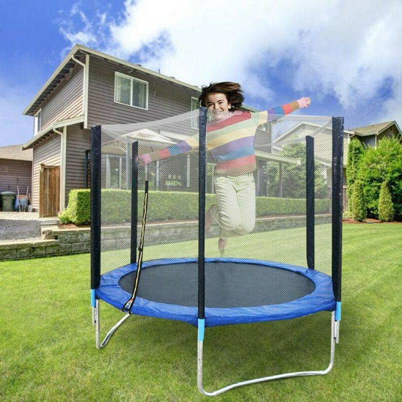 6ft trampoline kids adults with enclosure net