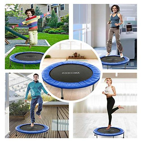 ANCHEER with Safety Pad, Bouncer Load 220lbs, in-Home Trampoline for Bounce Spring Mini Home/Office Cardio