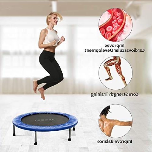 ANCHEER Mini with Safety Load Rebounder in-Home for Adults, Quiet Home/Office Cardio