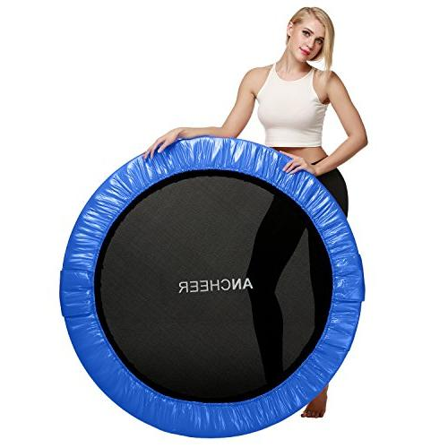 ANCHEER Safety Load Fitness Rebounder in-Home Trampoline for Adults, Quiet and Bounce Bouncer,