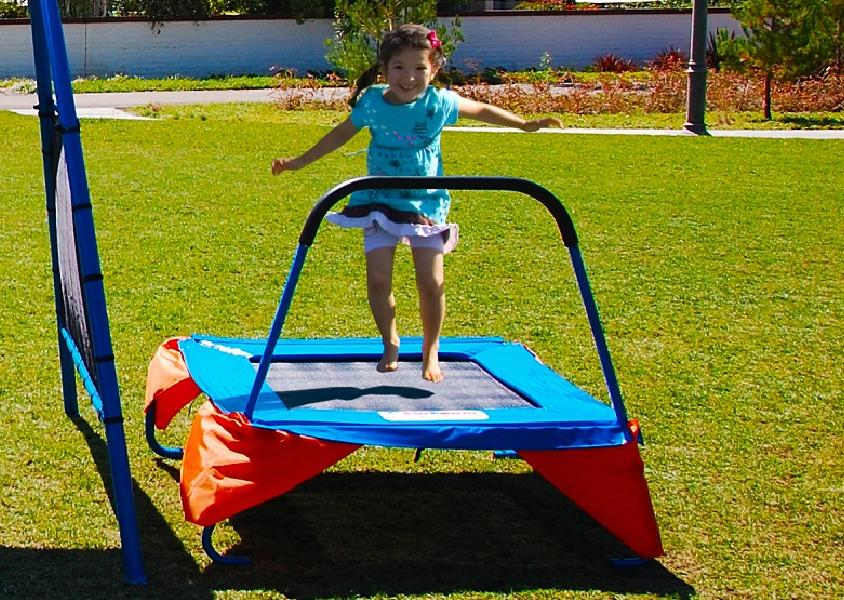 Metal Swing Swings Slide Kids Equipment Backyard