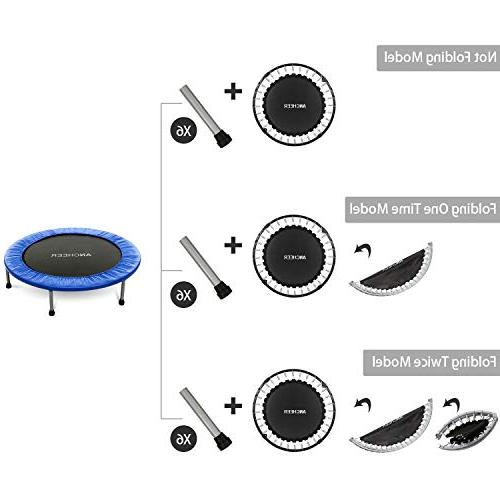 Safety Pad, Bouncer Max Load Fitness in-Home Trampoline for Kids Adults, Bounce Mini Bouncer, Home/Office Trainer