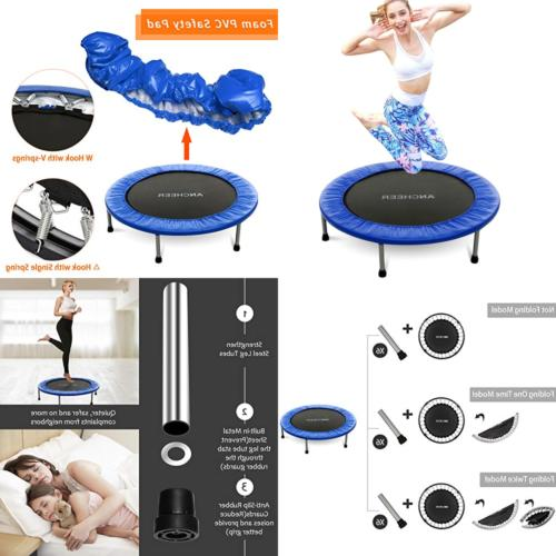 mini trampoline w safety pad bouncer max
