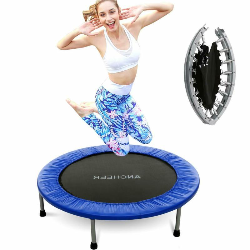 mini trampoline with safety pad bouncer max