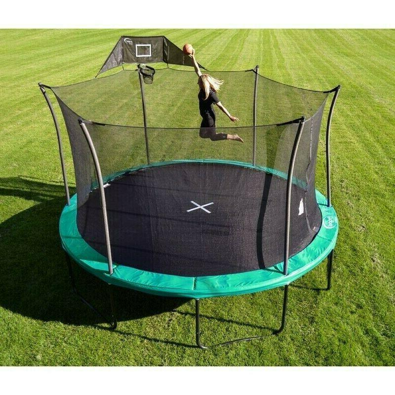 propel trampoline 15ft with basketball hoop