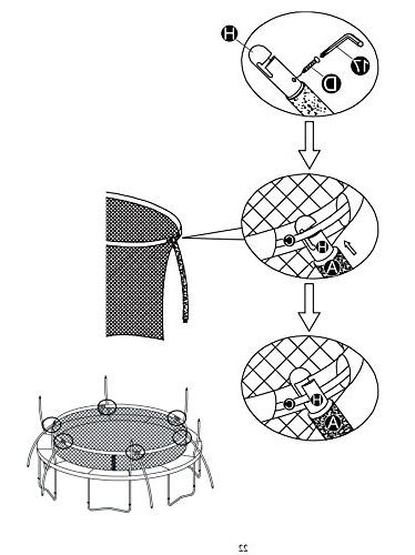 Trampoline Safety Enclosure Parts - Full