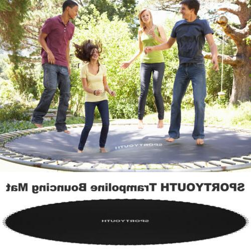 14/15ft Trampoline Round Jumping Bed Black