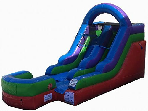 retro inflatable water slide