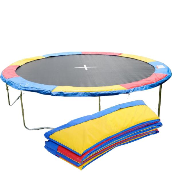 round trampoline safety 14 ft multicolor spring