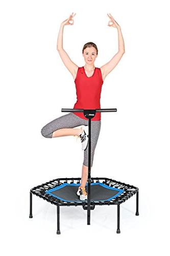 SportPlus Bar OR Bungees – Trampoline Ideal for Cardio Training Home, Rope –