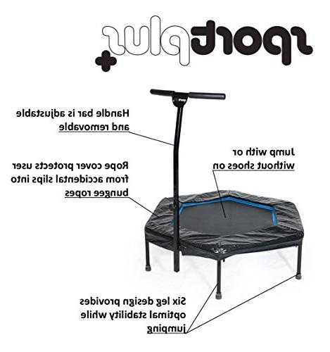 SportPlus Fitness Bar / OR Bungees – Indoor Trampoline Ideal for Cardio Training Rope System