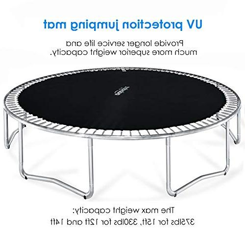 Zupapa 12FT TUV Trampoline with net, Ladder Pole Mat Spring Pull Include Outdoor Trampoline