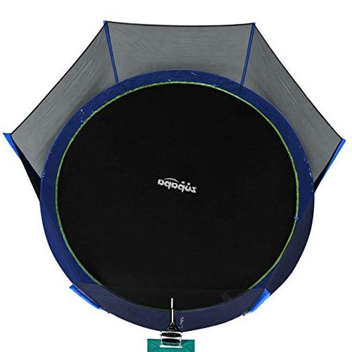 Zupapa 14 FT Approved with Enclosure and Jumping Mat Blue
