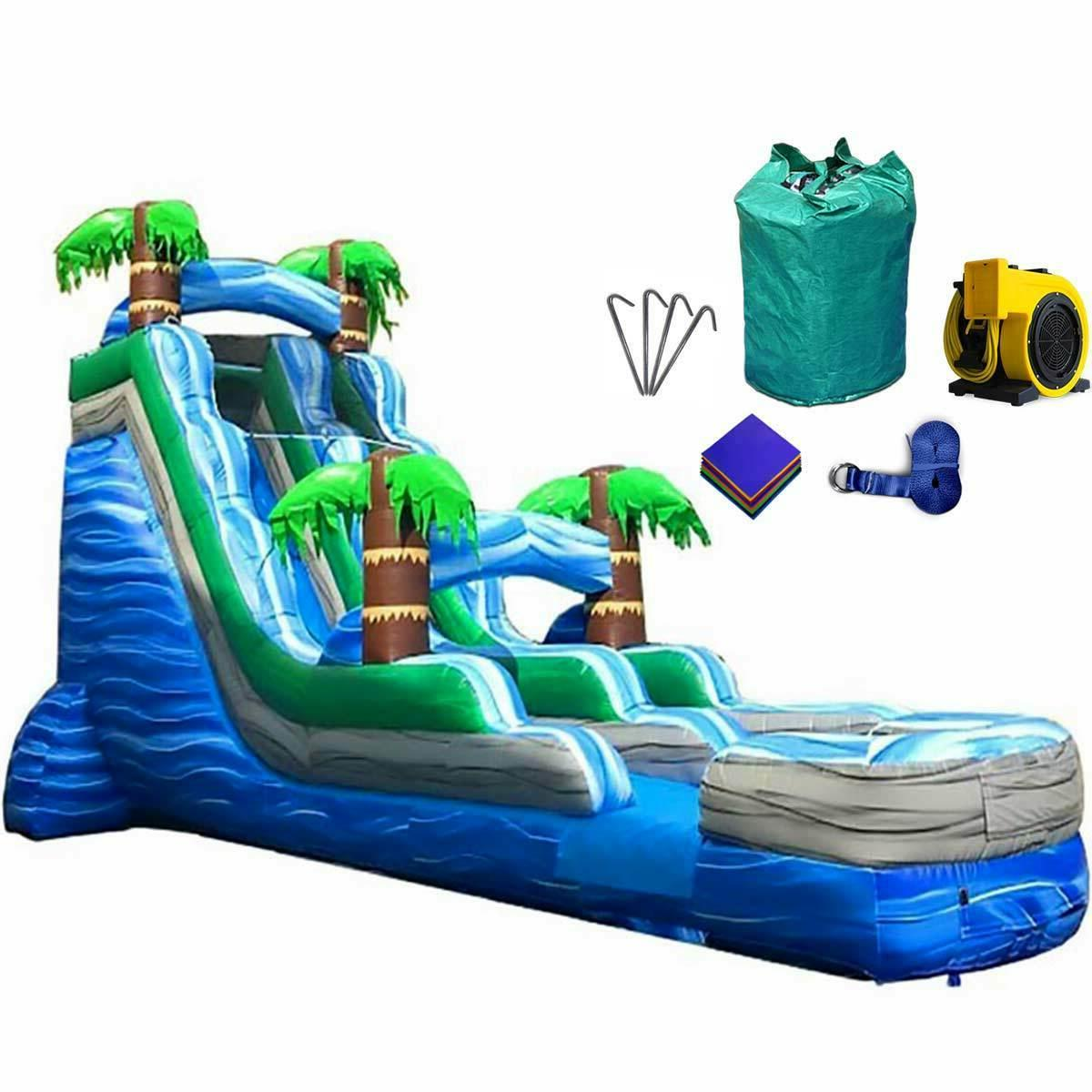 tall tropical styled inflatable water
