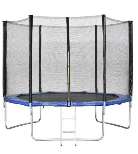 trampoline 8 ft bounce jump safety enclosure