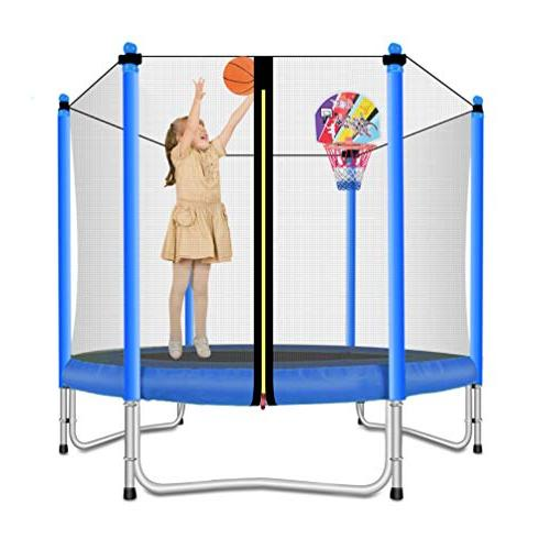 Lovely Trampoline Basketball for Kids-Blue-5 Feet