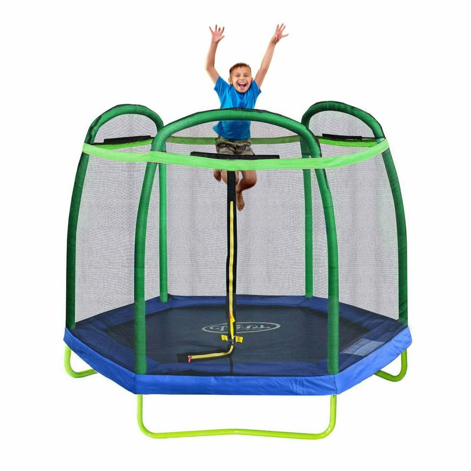 Trampoline Bouncing Outdoor Fun Toys For Kids Backyard Sport