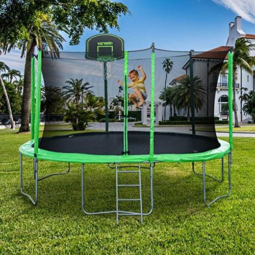 Merax Trampoline with Safety Basketball - BV Certificated – Basketball
