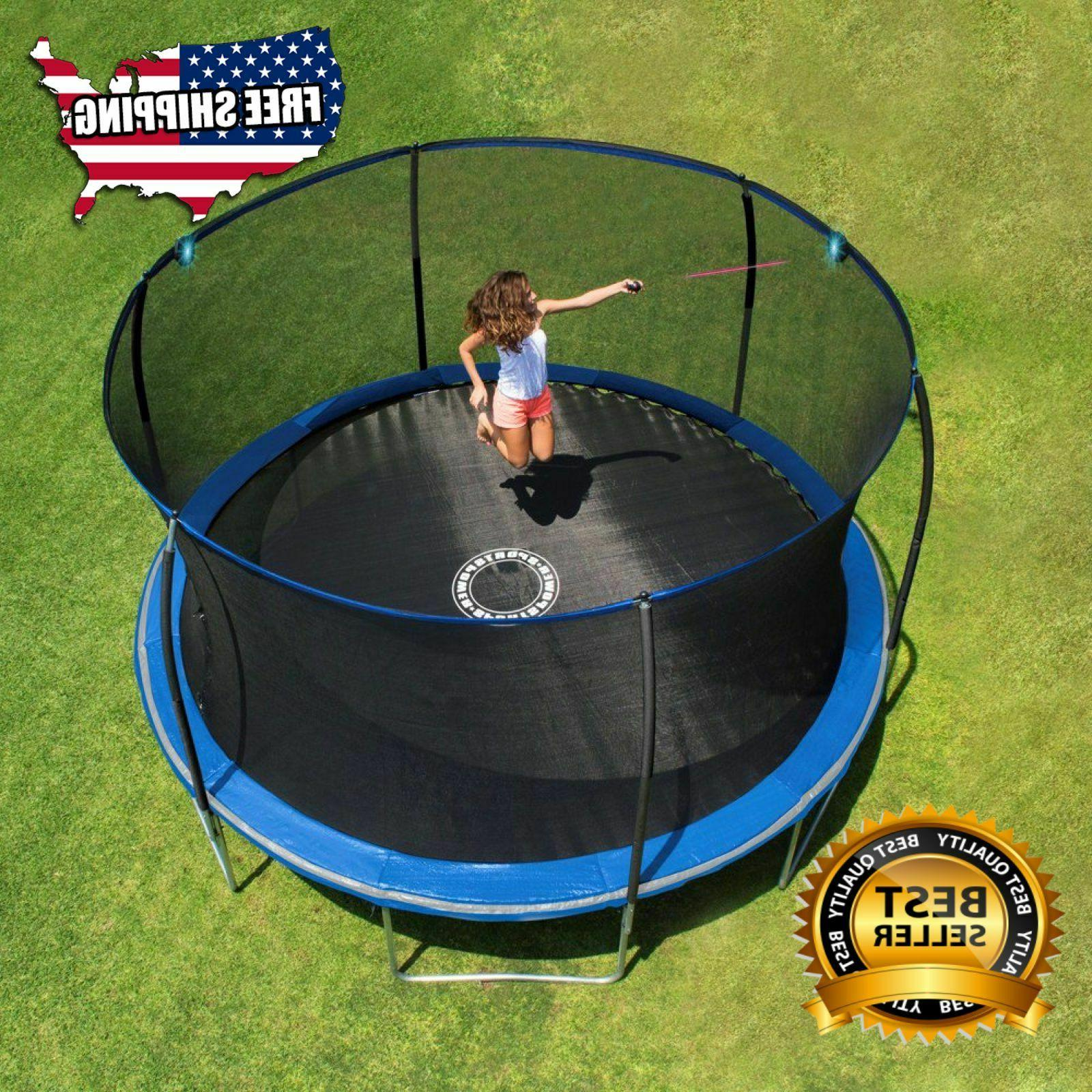 Trampoline, with Electronic Shooter Laser Pro Bounce game 14
