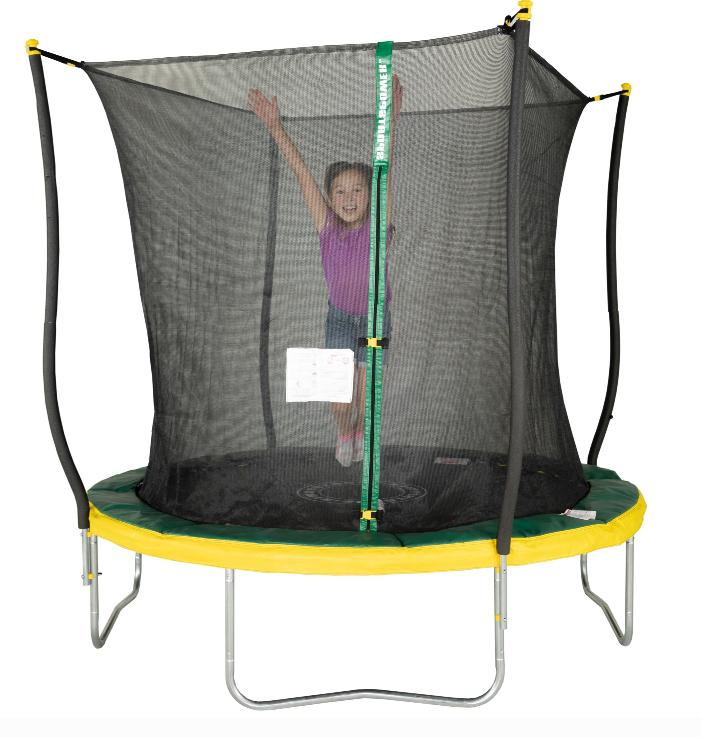 trampoline with safety net light outdoor enclosure