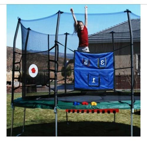 trampolines toss game combo