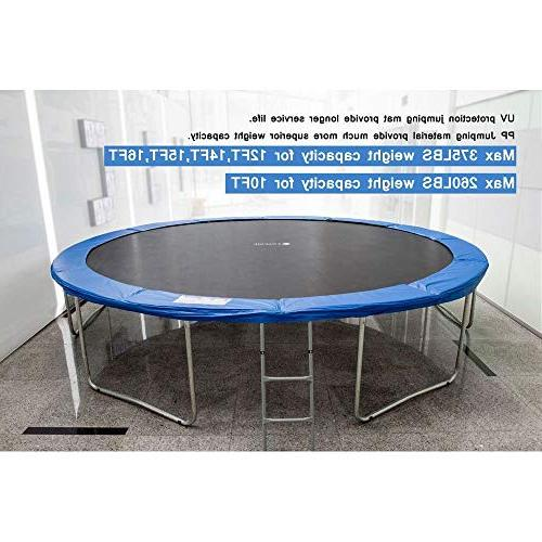 Exacme Trampoline with Enclosure Net & All-in-One Combo Set, 14'