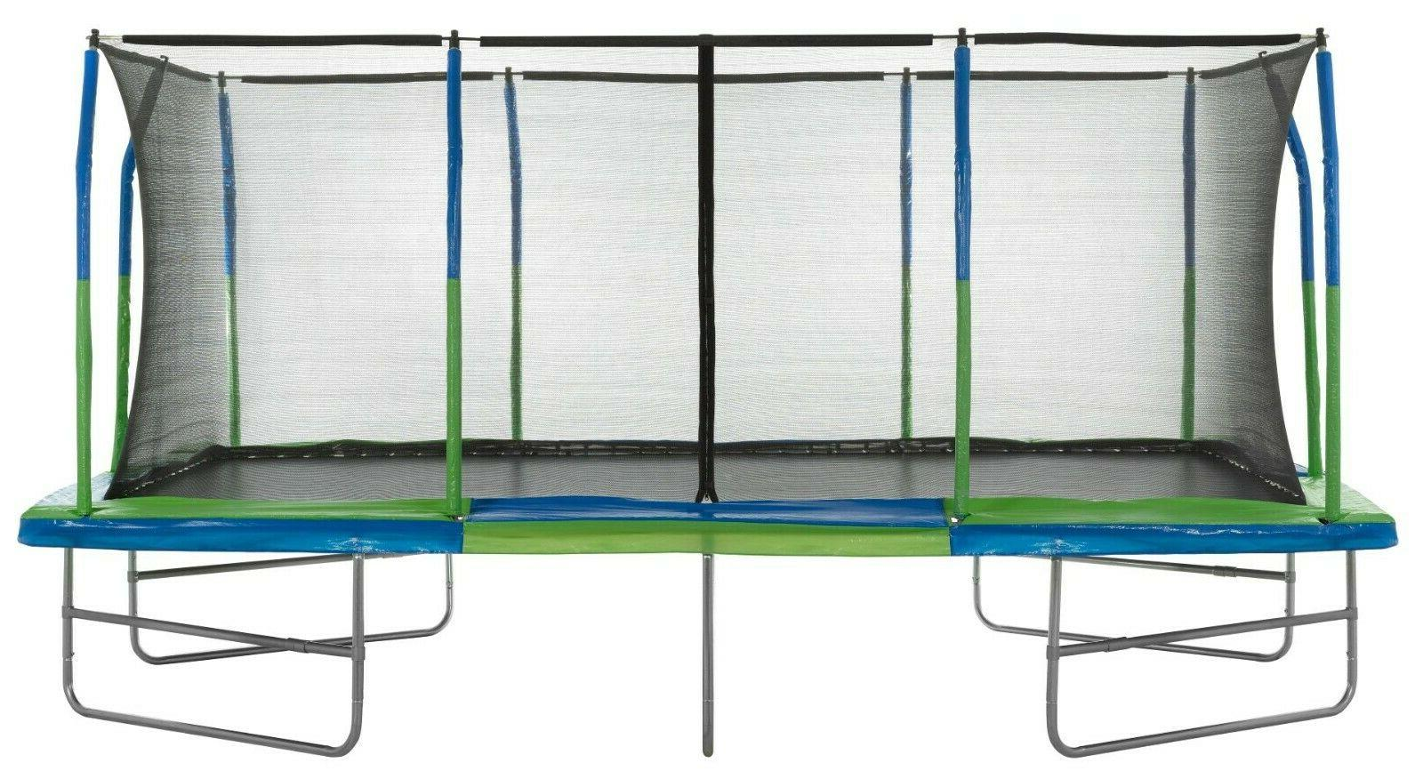 Upper Bounce 10' Style, Rectangular Trampoline Set with