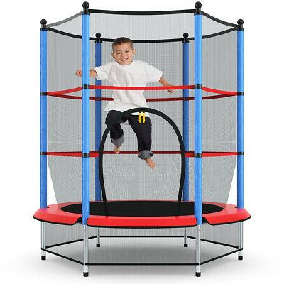 """Youth Jumping Round Trampoline 55"""" Exercise W/ Safety Pad En"""