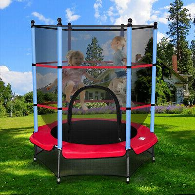 """Youth Jumping Round Trampoline 55"""" Exercise W/ Safety Pad"""