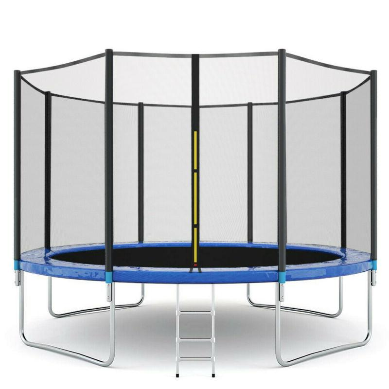 1Pc Kids Combo Bounce Jump Enclosure Net w/Spring Pad