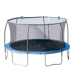Large Kids Trampoline with Electronic Shooter Laser Game Blu