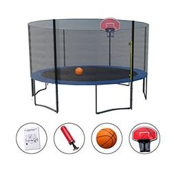 Exacme High Weight Limit Trampoline with Safety Pad & Enclos
