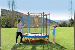 Little Tikes Easy Store 7-Foot Folding Trampoline, with Safe
