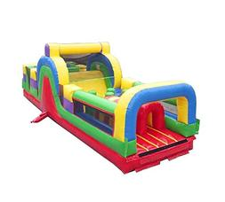 30-Foot Long Inflatable No Jump Top Obstacle Course Rock Cli