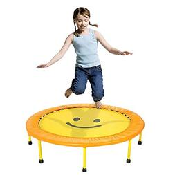 """LXLA - 36"""" Kids Trampoline Mini Bouncer with Safety Padded C"""