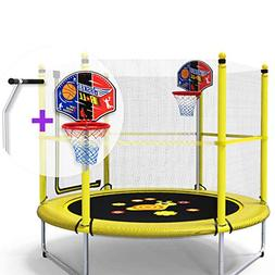 Trampoline Lxn 60-inch Round Kids Mini Jump with Safety Encl
