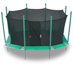 KIDWISE Magic Circle 9 Ft X 14 Ft Rectagon Trampoline With S