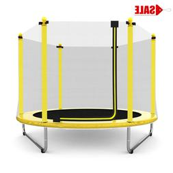 """Mini 60"""" Round Outdoor Trampoline Bouncer For Kids With Safe"""