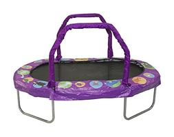 "JumpKing Mini Oval Trampoline with Purple Pad, 38"" x 66"""
