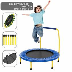 ANCHEER Mini Rebounder Trampoline with Handrail, Safe Trampo