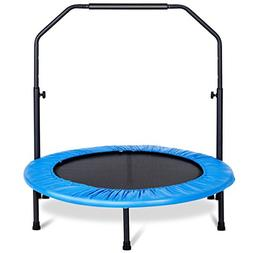 eyesonme Mini Trampoline with Adjustable Hand Rail Bouncing